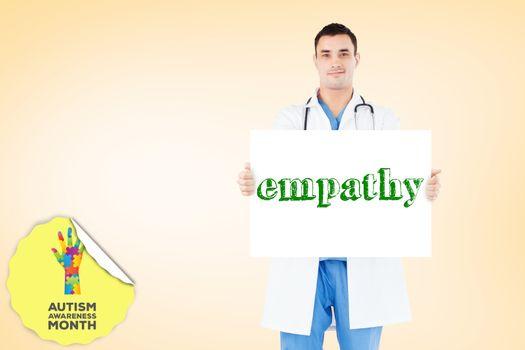 Empathy against orange vignette