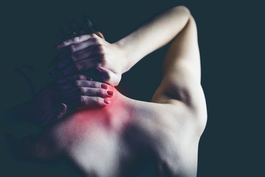 Woman with muscle injury