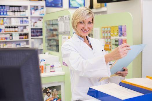 Pharmacist files documents