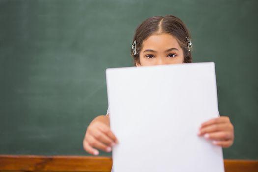 Pupil showing paper
