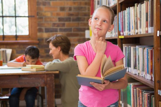 Thoughtful pupil at library