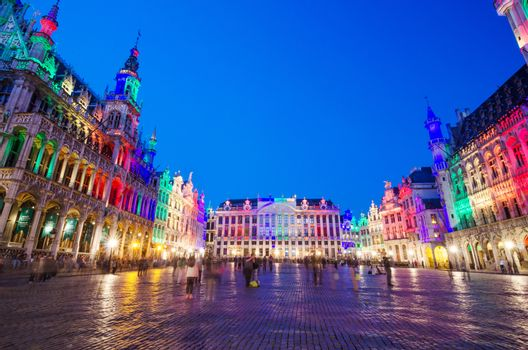 Grand Place at twilight in Brussels