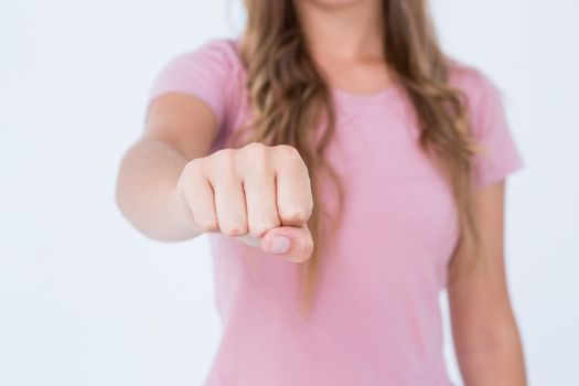 Woman presenting her fist