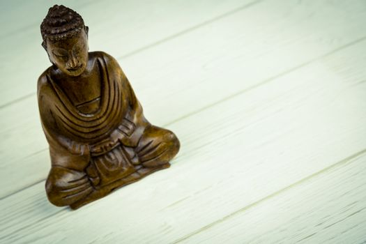 Buddha statue on a table