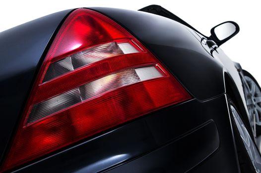 Rear tail light assembly on a modern car