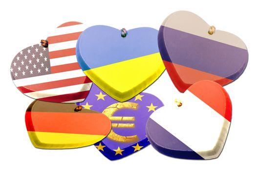 Flags heart - Patriotism - Illustration