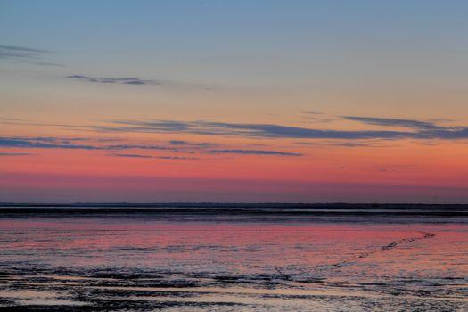 sundown over mudflat