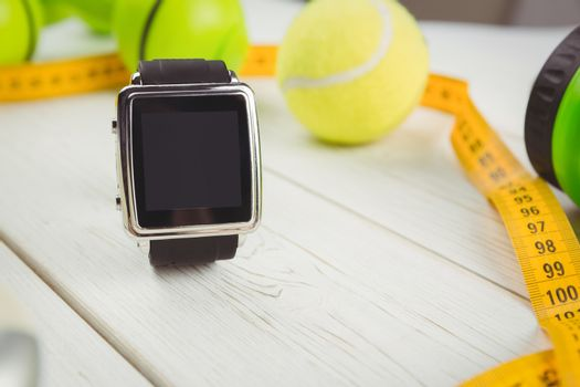 Watch with indicators of healthy lifestyle