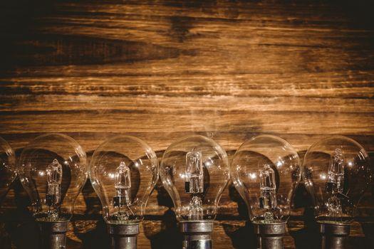 Row of light bulb