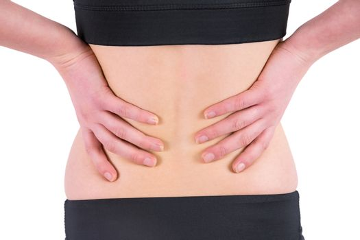 Woman with back injury