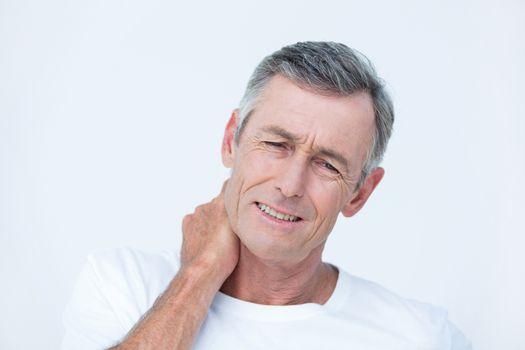 Patient with neck ache