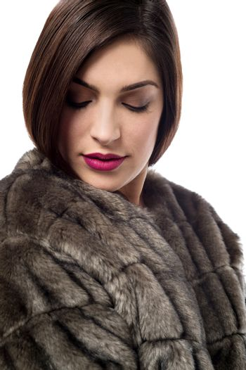 My new style with fur coat.