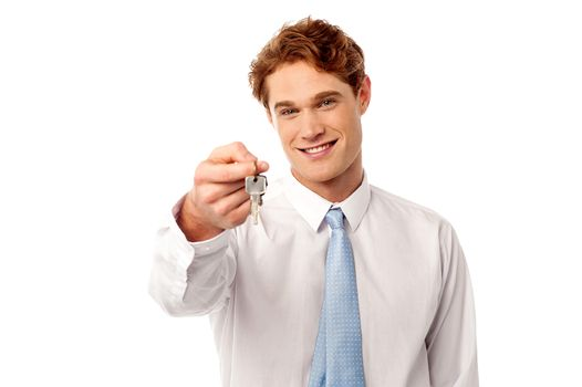 Take your new home key.