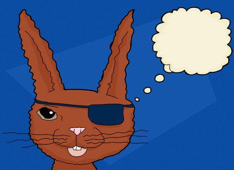 Fuzzy Cartoon Rabbit
