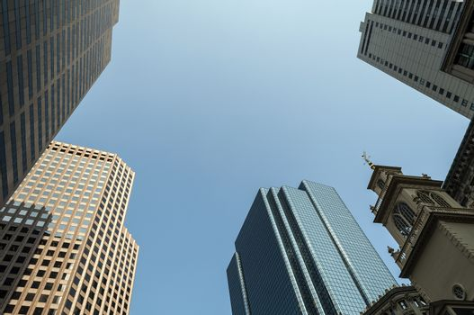 Boston buildings.