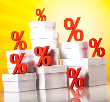 Concept of discount, financial concept