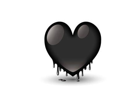 black heart dripping