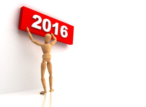 New Year 2016 sign