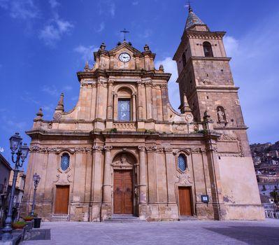 View of Sant'Antonio da Padova church, Agira, Sicily - Italy