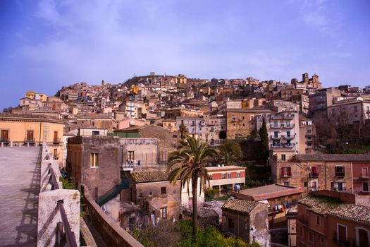 View of Agira, little town in the centre of Sicily.