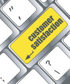 customer satisfaction key word on computer keyboard