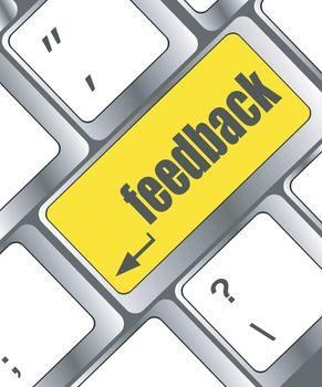 feedback on computer keyboard key button