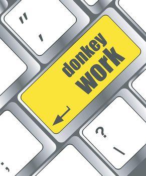 donkey work button on computer keyboard key