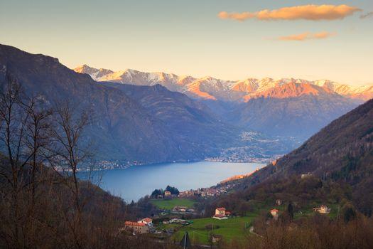 View of lake Lugano Lake, Italy