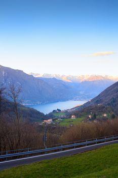 View of Lugano Lake, Italy