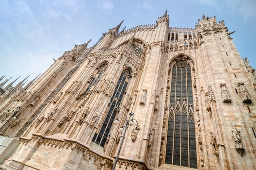 View of Duomo cathedral in Milano, Italy