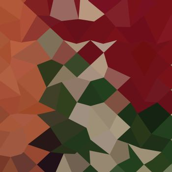 Low polygon style illustration of orange red abstract geometric background.