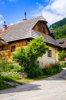 Traditional folklore house in old village Vlkolinec, Slovakia