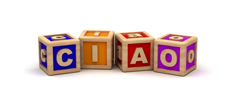 Ciao Text Cube