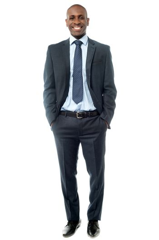 Full length image of handsome businessman