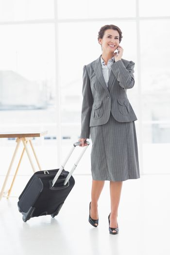 Businesswoman leaving for a work trip