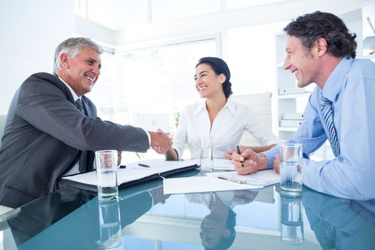 Business people reaching an agreement