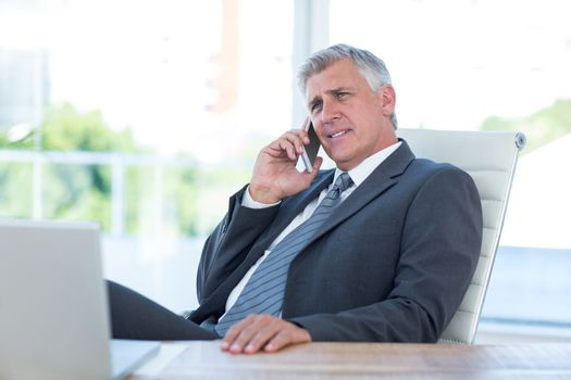 Businessman having a phone call