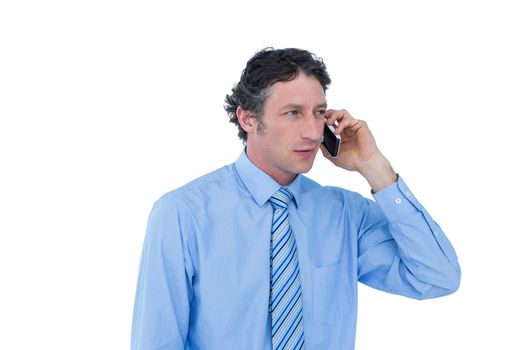 Businessman having phone call