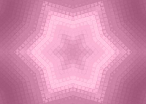 Abstract pink background of squares concentric pattern