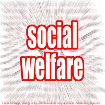 Social welfare word cloud