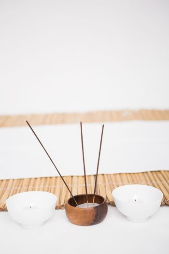 Perfumed candles and incense stem