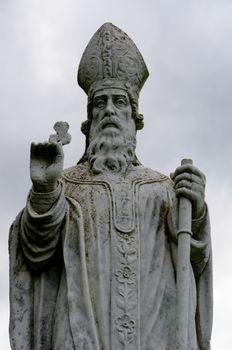 A statue of St Patrick, patron saint of Ireland, on the Hill of Tara.