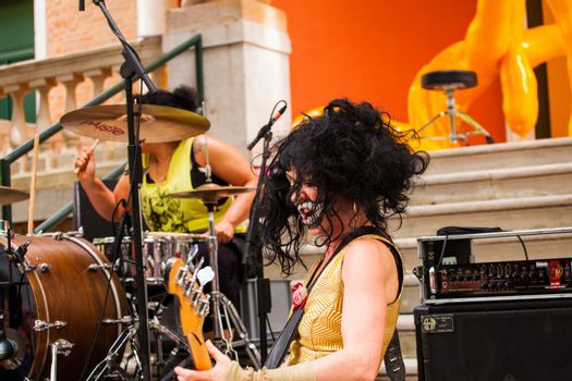 VENICE, ITALY - MAY, 06: Concert during the vernissage of British National Pavilion at the 56th Art exhibition of Venice biennale 2013 on 29, May 2013