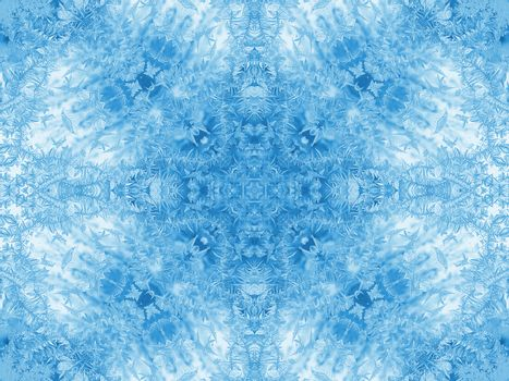 Background with concentric abstract ice pattern