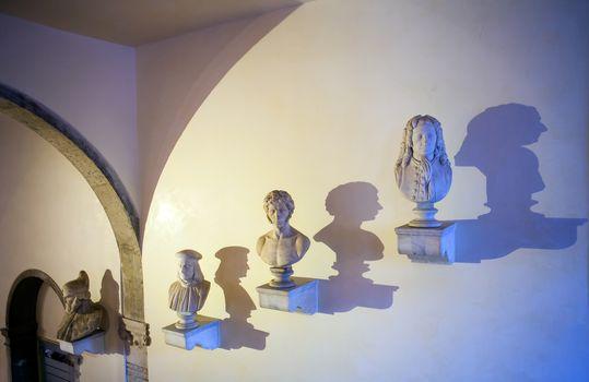 View of Italian half length artists, Venice