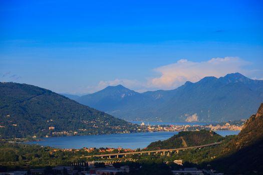 View of Maggiore lake from Arzo (Verbania), Italy