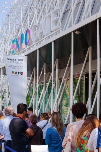 MILAN, ITALY - MAY, 15: View of Expo gate 2015 in Milan on May 15, 2015