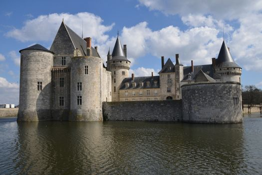 France, the picturesque castle of Sully sur Loire in Loiret