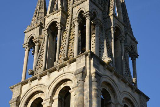 Ile de France, the picturesque church of  Vernouillet