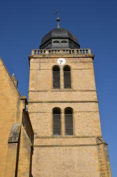 Bourgogne, the picturesque Saint Nicolas church in Paray le Monial